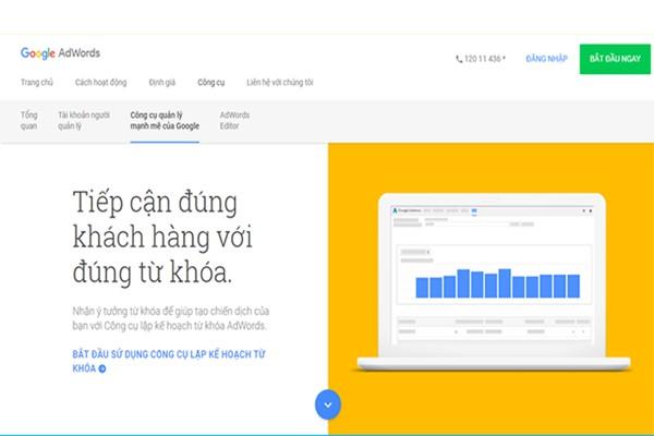 Công cụ nghiên cứu từ khóa Google AdWords Keyword Tool