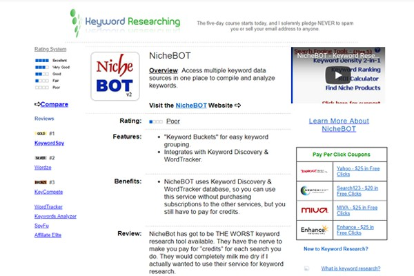 Niche Bot Keyword Research