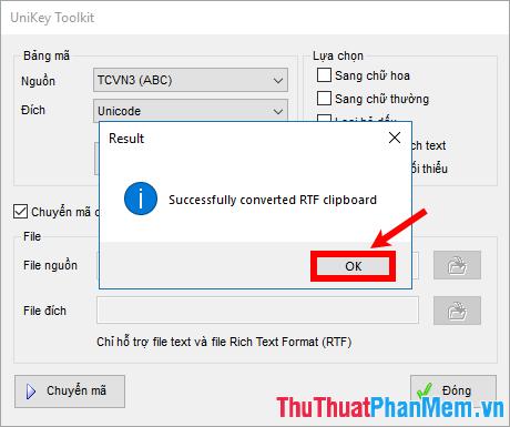 Successfully converted RTF clipboard