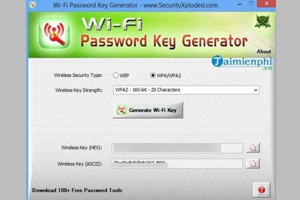 Phần Mềm Bẻ Khóa Wifi WiFi Password Key