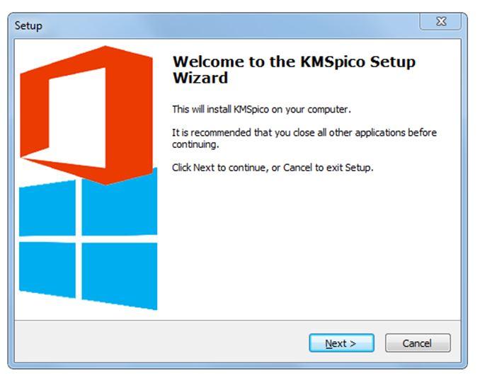 Khởi động phần mềm KMSPico